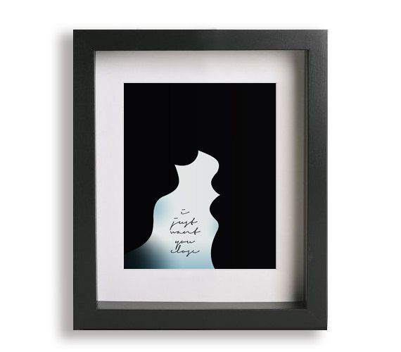 No One / Alicia Keys  Music Lyric Art Print  par LyricalArtworks, $19.95: Silhouette
