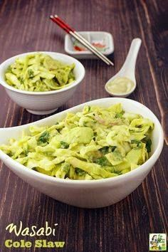 Tired of basic coles Tired of basic coleslaw recipes? Try this...  Tired of basic coles Tired of basic coleslaw recipes? Try this Wasabi Cole Slaw recipe! Click to get this Asian coleslaw recipe thats ideal for cookouts potlucks and bbq parties. Its gluten free and comes with a vegan option. Recipe : http://ift.tt/1hGiZgA And @ItsNutella  http://ift.tt/2v8iUYW