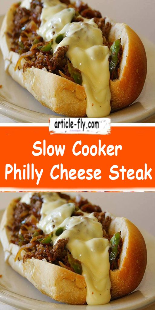 Slow Cooker Philly Cheese Steak In 2020 Crockpot Recipes