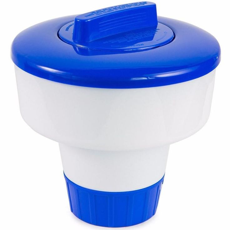 High Quality 8 inch Deluxe Large Blue and White Floating Swimming Pool Chlorine Dispenser 706 Levert Dropship #Affiliate