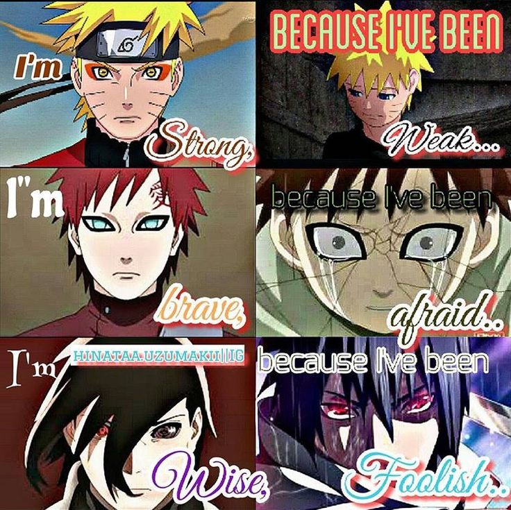 The Strong, The Brave, and The Wise Anime naruto, Naruto