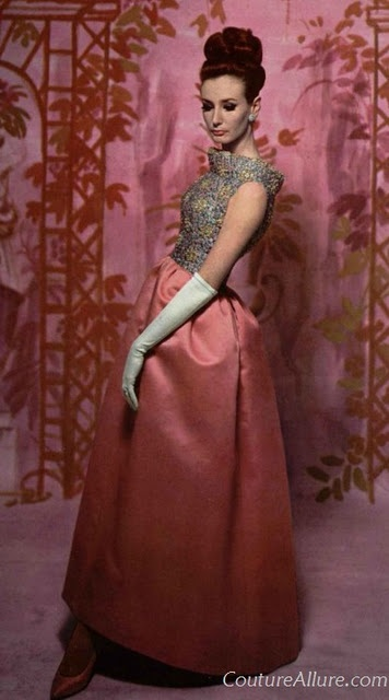 Givenchy 1962Vintage Gowns, 1960S Fashionista, Vintage Fashion, Roland De, Dresses, Givenchy 1962, Evening Gowns, Pink, Silk Faille