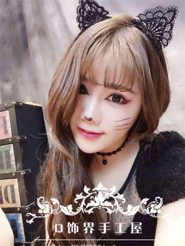 Каждый день износ может Ailei Si игривые кошачьи уши оголовье кружева кошачьи уши оголовье аксессуары для волос ювелирные изделия Catwoman - Taobao