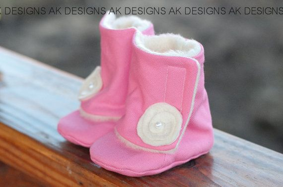 AK DESIGNS Elegant Baby Shoes  Little Caren by AKBABYDESIGNS, $30.00
