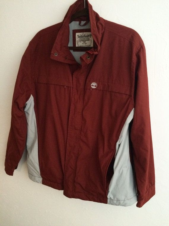 Vintage Timberland Jacket Men's Large Maroon by MyVintageApartment