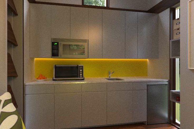 Reset House kitchen, Option 2, by http://SteveHallArchitecture.com