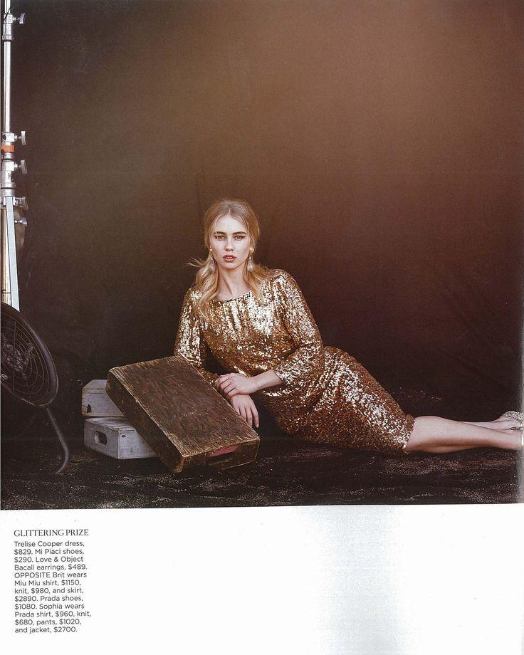 Fashion Quarterly - Gold Play Dress