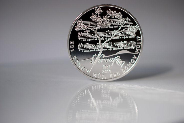 """Pamětní medaile Národní Pokladncice """"Výročí české hymny"""". Ryzí stříbro 999/1000. Nejvyšší kvalita ražby."""