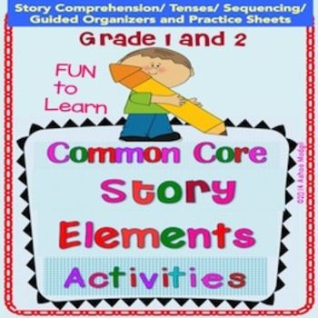Story Elements Activities  are common core aligned and are great for enhancing comprehension and writing skills. NOTE: Updated on 10/11/14 with 34 Pages of Content. LOOK at PREVIEW for detailed TABLE of CONTENTS. It contains:  1 Description of Story Elements 2 Ideas to support understanding of story elements. 3 Scrambled Story  Sequencing Activities (Cut, Match and Paste) 4 Comprehension Questions 5 Story Elements Puzzles/Task Cards 6 Guided Graphic Organizers (use these with Guided Reading…