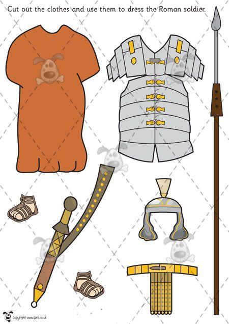 Teacher's Pet - Dress the Roman soldier (colour) - Premium Printable Game / Activity - EYFS, KS1, KS2, ancient, rome, roman, britain, empire...