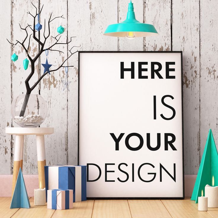 5 Christmas mockups posters by FilL239 on @creativemarket