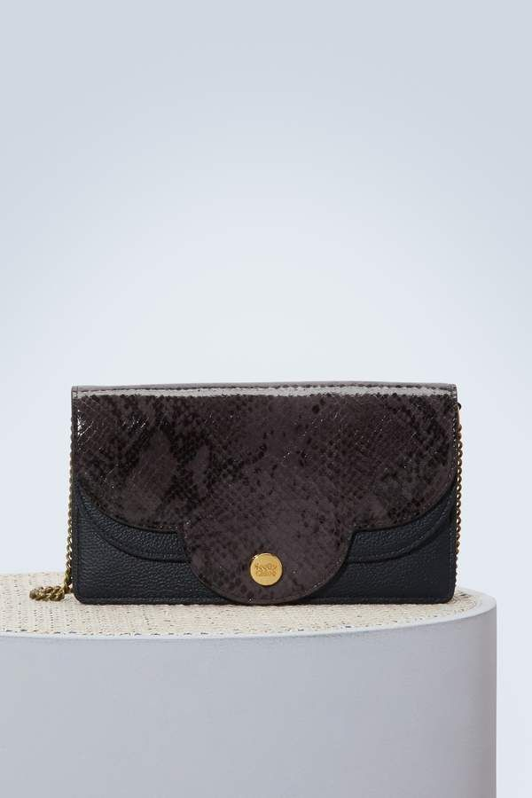 d41a89a88f See By Chloe Leather Polina shoulder bag with chain