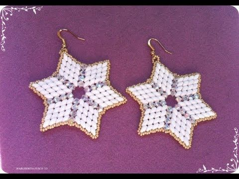 Tutorial orecchini con perline superduo e cristalli swarovski. Superstar. How to make earrings - YouTube