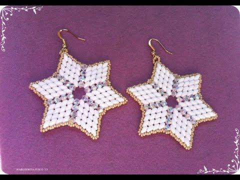 Tutorial orecchini con perline superduo e cristalli swarovski. Superstar. How to make earrings - YouTube