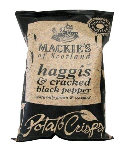 haggis flavored potato chips..??? Check out all the other strange flavored chips from around the world.