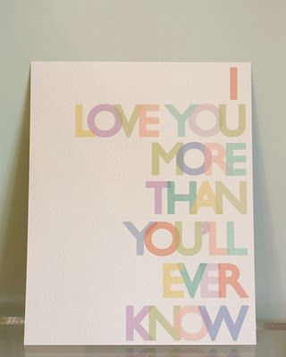 <3Primary Colors, Nurseries Decor, Wall Art, Love You, Quotes, Kids Room, Baby Art, Baby Room, Prints