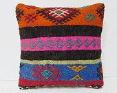 orange decorative pillow turkish rug pillow pink kilim pillow bohemian cushion cover embroidered pillow case primitive decoration blue 25775