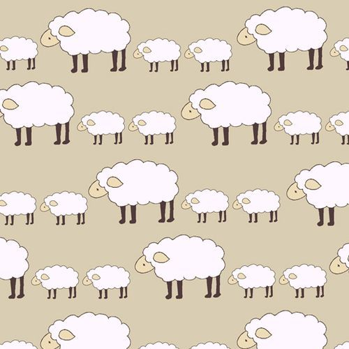 Sheep Fabric by Creative Thursday!  All the knitter's need this!
