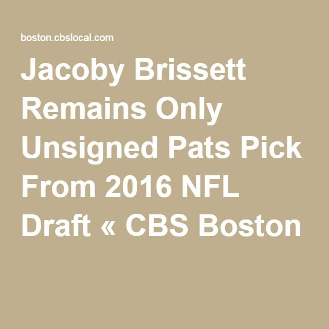 Jacoby Brissett Remains Only Unsigned Pats Pick From 2016 NFL Draft « CBS Boston