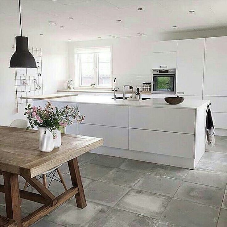 Luxury Farm house style huge table with white kitchen