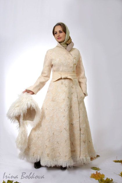 Верхняя одежда ручной работы. Ярмарка Мастеров - ручная работа Пальто валяное зимнее Лунная дорожка. Handmade.