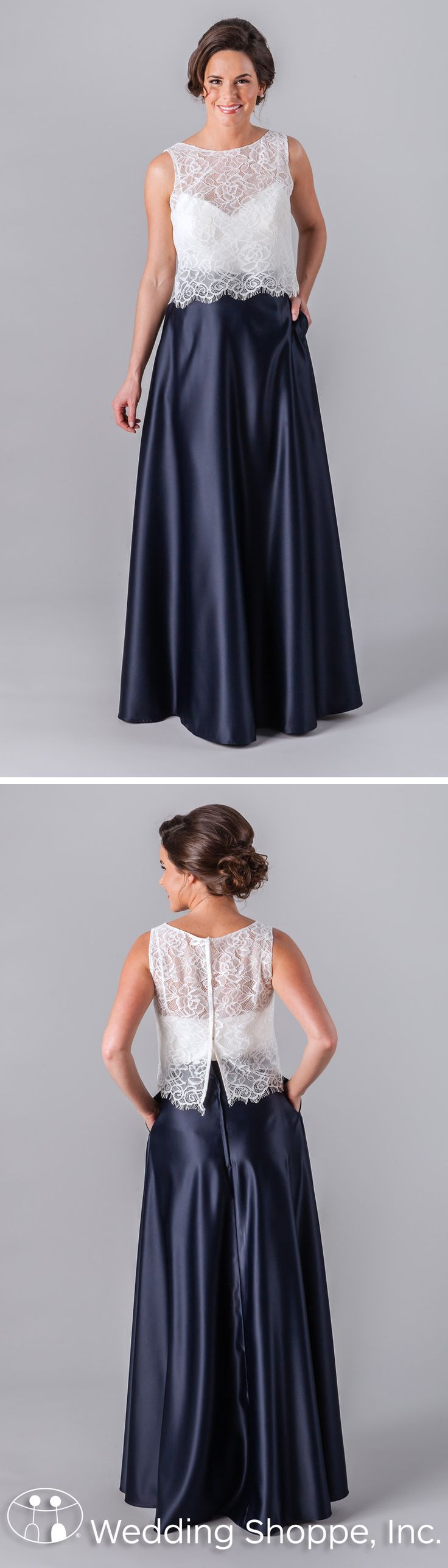 27 best two piece bridesmaid dresses wedding shoppe images on a two piece bridesmaid dress from kennedy blue featuring a lace illusion neckline top and ombrellifo Image collections