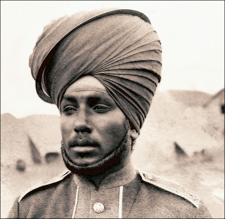 Restored Photo - British Indian (Sikh) Soldiers were extensively used by the British Army during the Boxer uprising as, with the concurrent long running Boer troubles in Africa, there simply weren't enough white Britons in uniform to go around. The Sikhs gained a reputation for good soldiering, but were feared for their harsh brutality and aggressive looting. This picture shows an infantryman with a Chakram circular blade on his turban, ready for use.