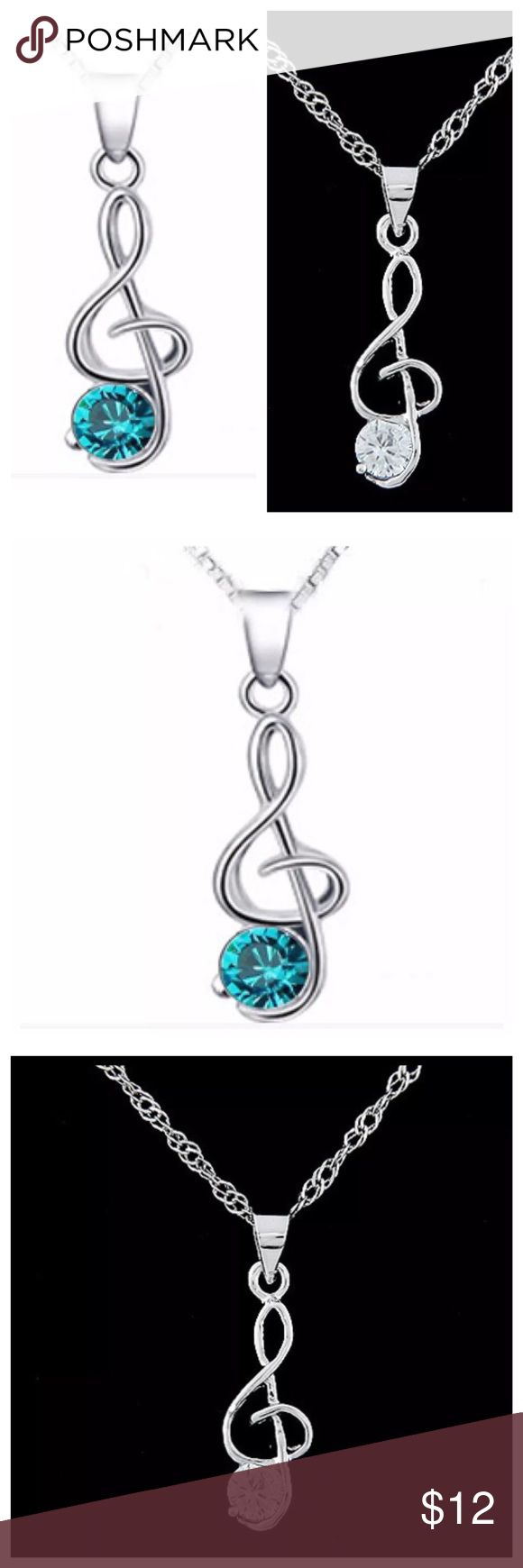 """Austrian Crystal Music Note Necklace ED29 ‼️ PRICE FIRM ‼️ 10% DISCOUNT ON 2 OR MORE ITEMS FROM MY CLOSET ‼️   Music Note Necklace Retail $22 NEW WITH TAGS  FABULOUS! Beautiful Austrian crystal adorns this silver color metal music note.  This is sure to dress up even the most basic outfit!  Necklace is approximately 20"""".  Note is approximately 1"""". Jewelry Necklaces"""
