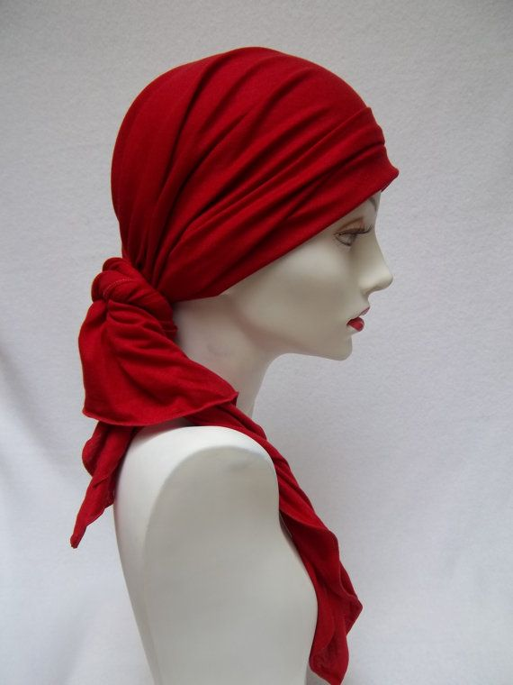 Hey, I found this really awesome Etsy listing at https://www.etsy.com/listing/81270883/head-scarf-red-chemo-tencel-alopecia