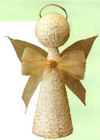 Anjo decoração de natal com material reciclável……….. « Decore & Inove: