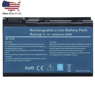 Battery for Acer Aspire 3690 5100 3100 3102 5610 5515 5610Z BATBL50L6 BATBL50L8