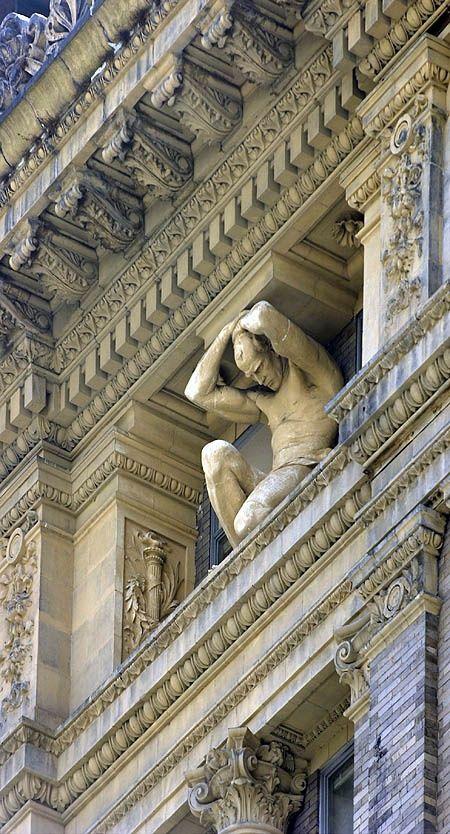 Detail of facade in Pittsburgh, Pennsylvania (SABON HOME)