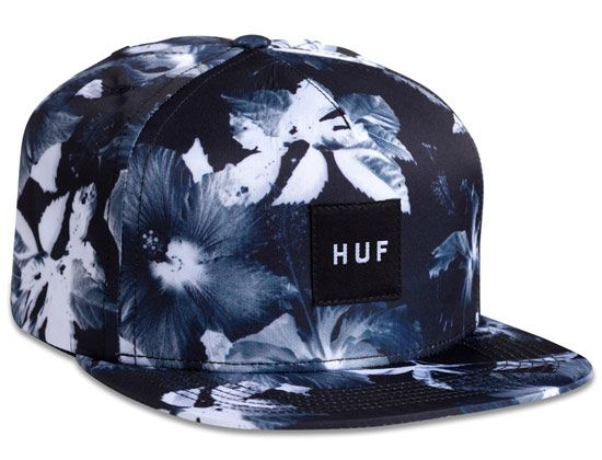 Floral Logo Box Snapback Cap by HUF