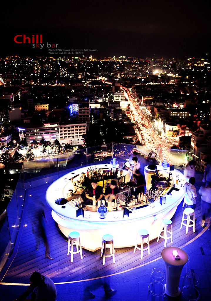 This rooftop bar is amazing...Chill Skybar in Saigon Second Fastest  Growing  City in Asia