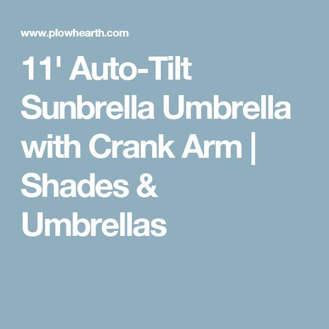 11' Auto-Tilt Sunbrella Umbrella with Crank Arm | Shades & Umbrellas