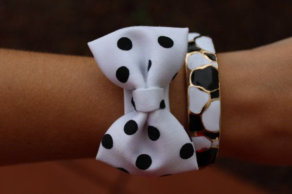 Fabric bow bracelets, various colors to choose from, preppy bracelet