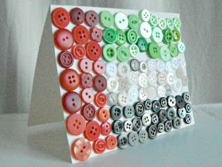 Create a country flag using buttons. Do on a larger scale for wall art