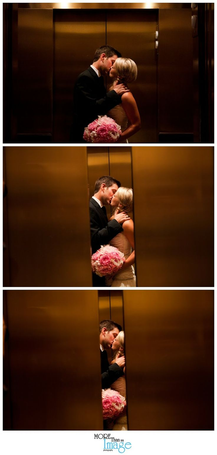 Fantastic way to end a wedding album, closing elevator doors • More Than An Image