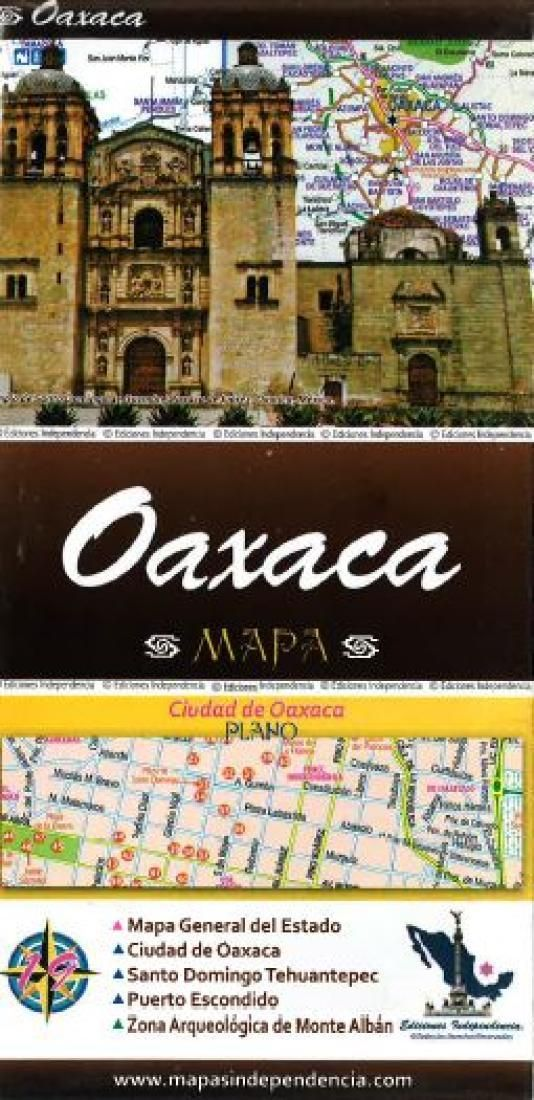 Oaxaca, Mexico, State and Major Cities Map by Ediciones Independencia