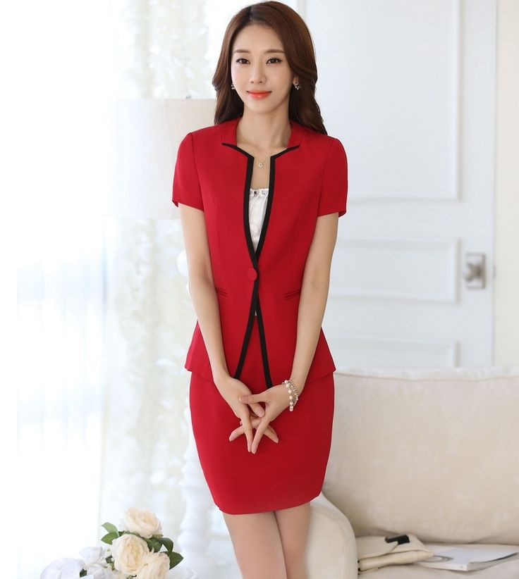 New Professional Business Suits With Jackets And Skirt ...