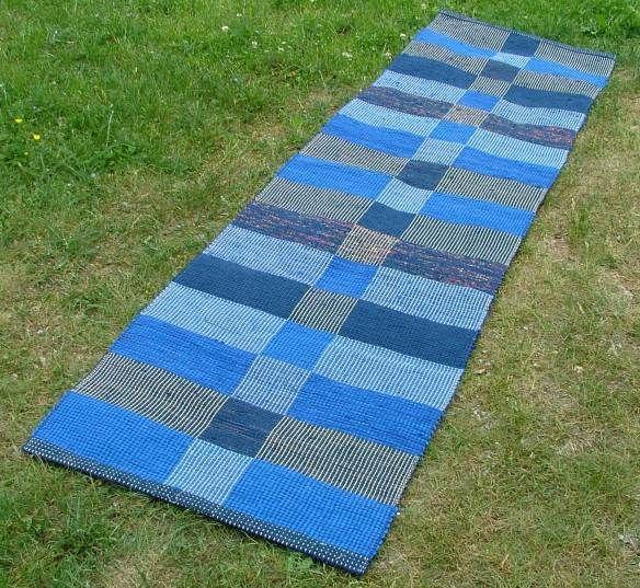Mörkblå matta
