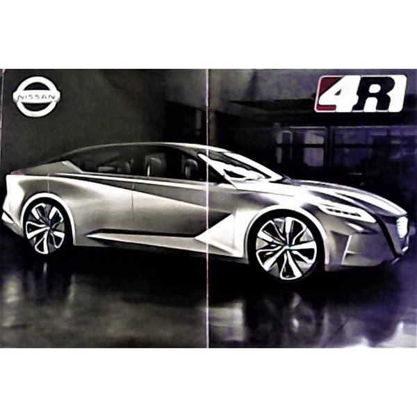 """Póster 100% Original Del Nissan Vmotion 2.0, ganador del premio al """"Auto Concepto"""" del año 2017. $60.00 pesos."""