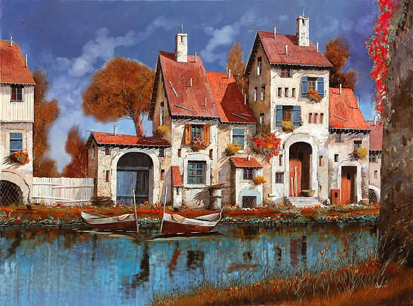 Painting by Guido Borelli.