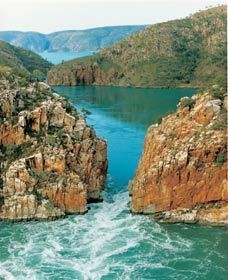 One of only 2 horizontal waterfalls on Earth,  located in NW Australia