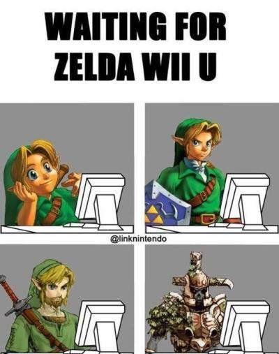 Waiting for Zelda Wii U...