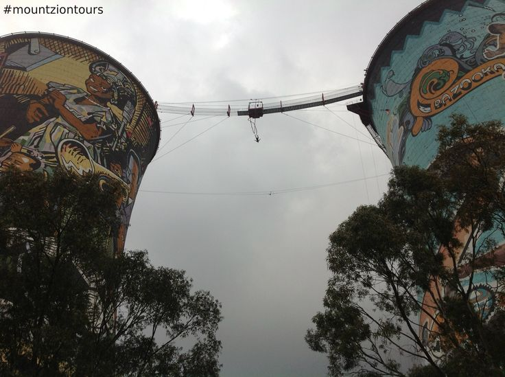 Orlando Towers in Soweto is a world-leading vertical adventure centre, offering bungee jumping between two cooling towers. You should try this amazing adventure (Bungee jumping).