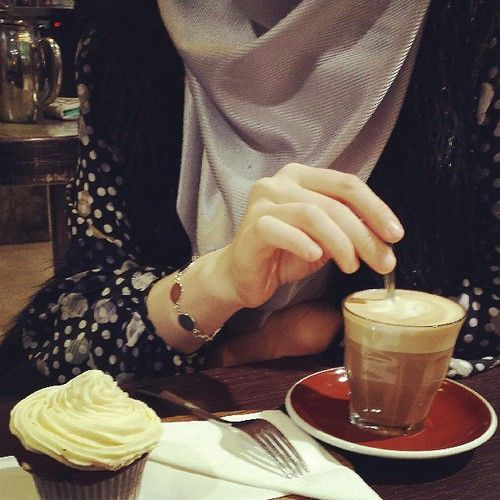 Mmmmmm. Coffee/Chai. lol. #hijab