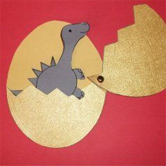 Total niedlich :) Dino im Ei #Dinosaurier #basteln #DIY