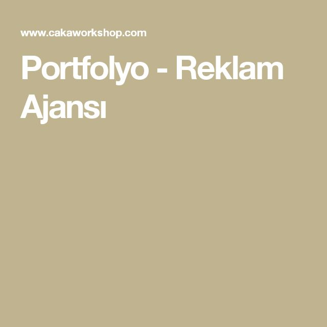 Portfolyo - Reklam Ajansı
