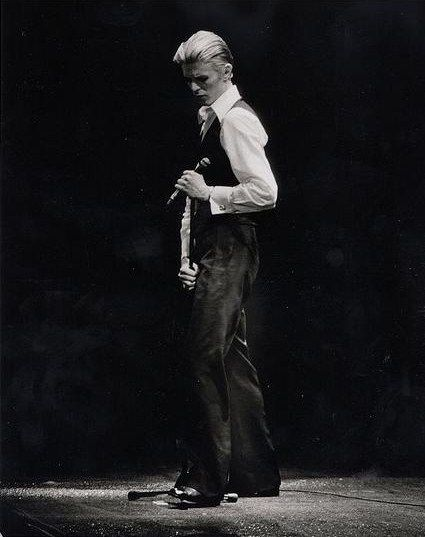 """David Bowie as The Thin White Duke, """"a hollow man who sang songs of romance with an agonized intensity while feeling nothing""""."""